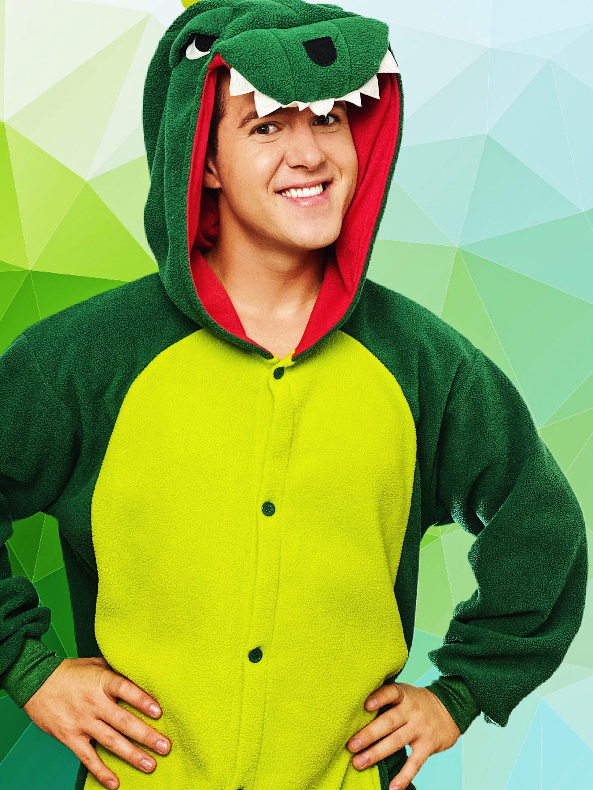 dinosaur entertainers in dinosaur costumes London